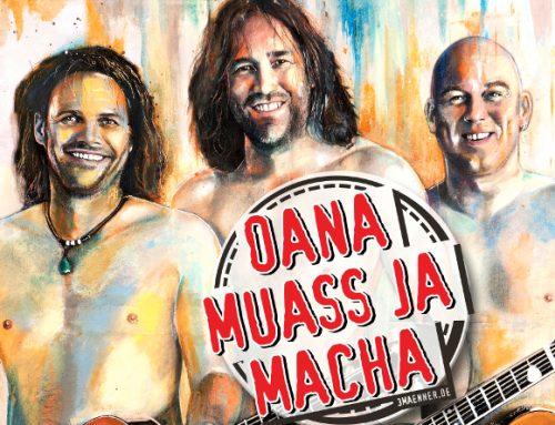 3 Männer nur mit Gitarre – Oana muass ja macha / CD-Premiere