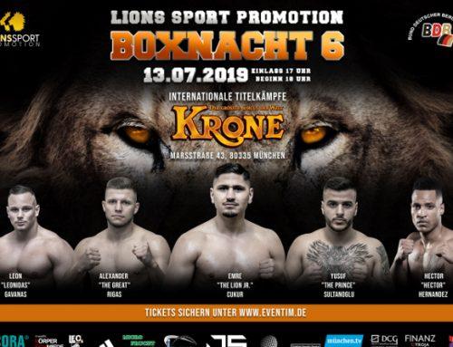 Boxnacht 6 – Internationale Boxnacht der Löwen